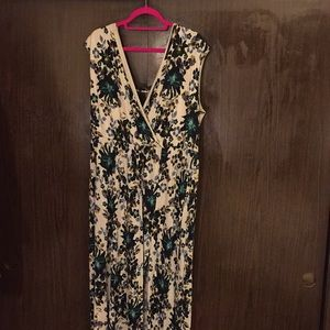 H&M floral maxi dress. Off shoulder, leg slit.
